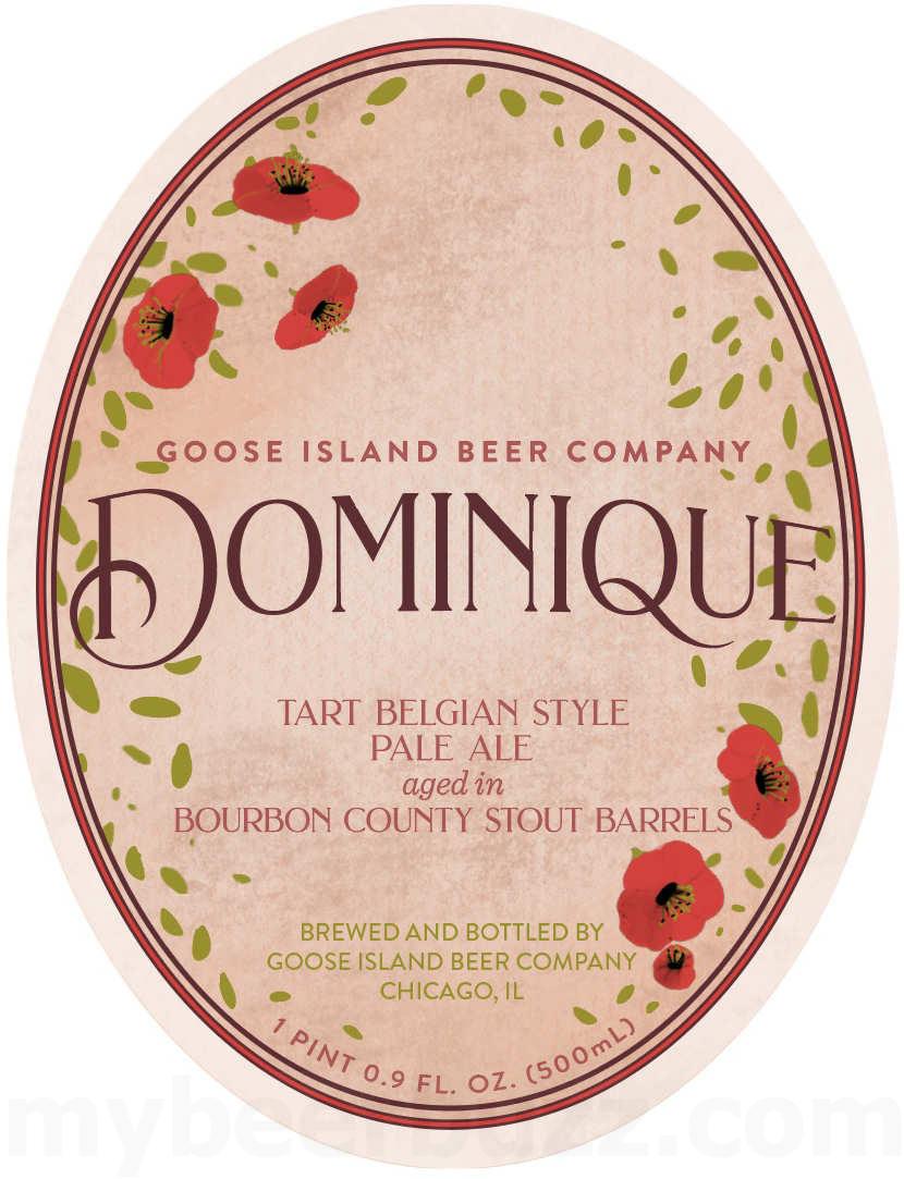 Dominique beer label