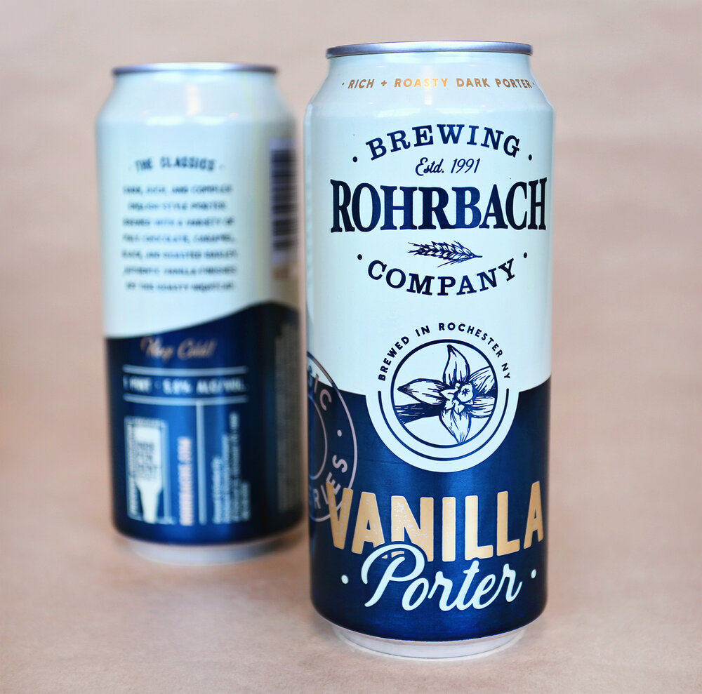 Vanilla Porter in a tall can