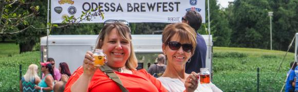 Lounging at the Historic Odessa Brewfest