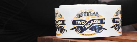 Two Roads Brewery sticker roll