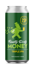 2SP Really Dirty Money beer can label
