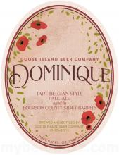 Dominique beer label