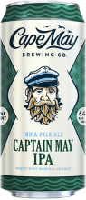 6.4% ABV Captain May IPA is orange-hued and opaque