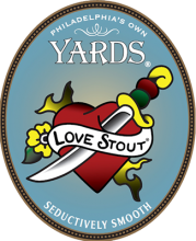 Chocolate Love Stout with a sword through the heart