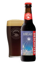 Jubelale in bottle and glass