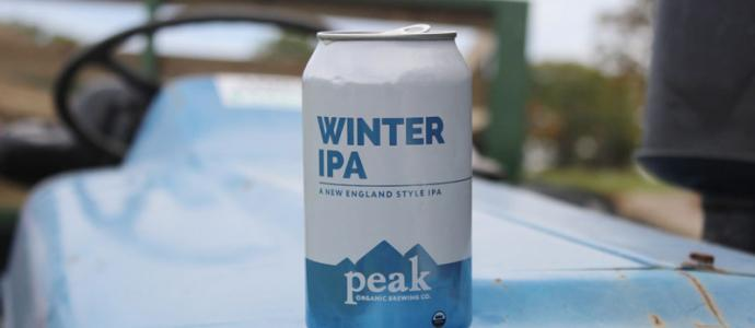 can of Winter IPA from Peak Organic