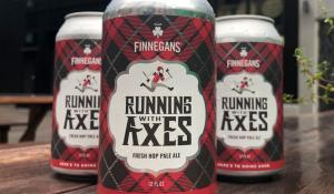 beer cans of Running With Axes Pale Ale