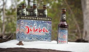 six pack of Jubelale in snow