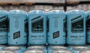 Spruce Tip IPA in cans