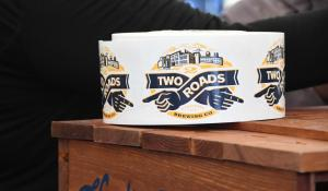 Two Roads Brewery sticker roll